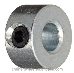 Shaft locking Collar, Set screw Style, Zinc Plated Steel