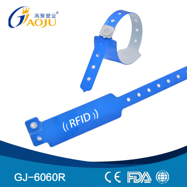 GJ-6060R Wholesale Professional Pvc Material One Time Using Disposable Paper Rfid Wristband