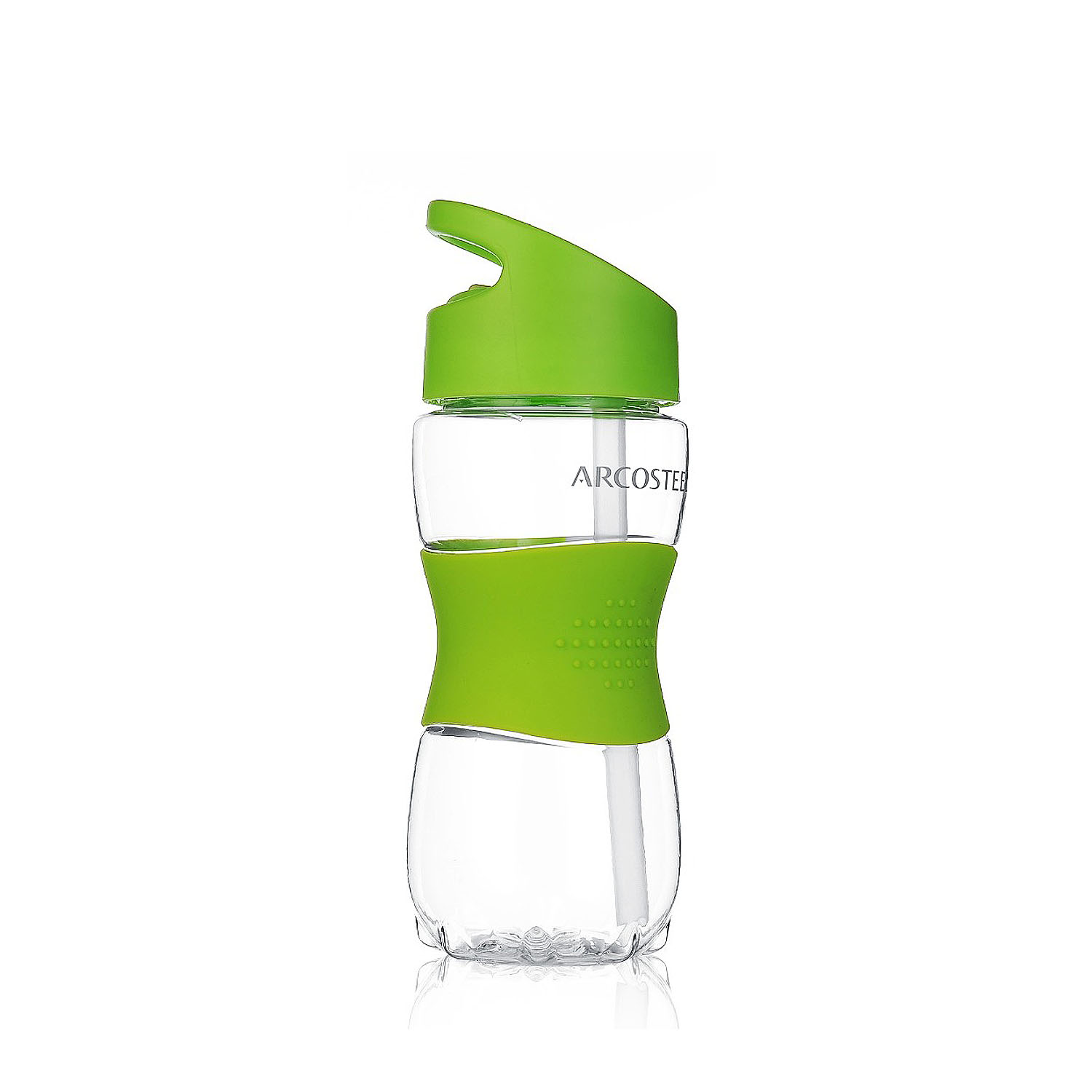 350ml/12oz Portable BPA Free Tritan Plastic Leak Proof Straw Drink Bottle With Printing
