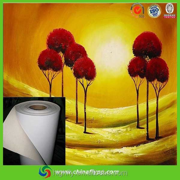waterproof white back cotton canvas in smooth surface, factory price