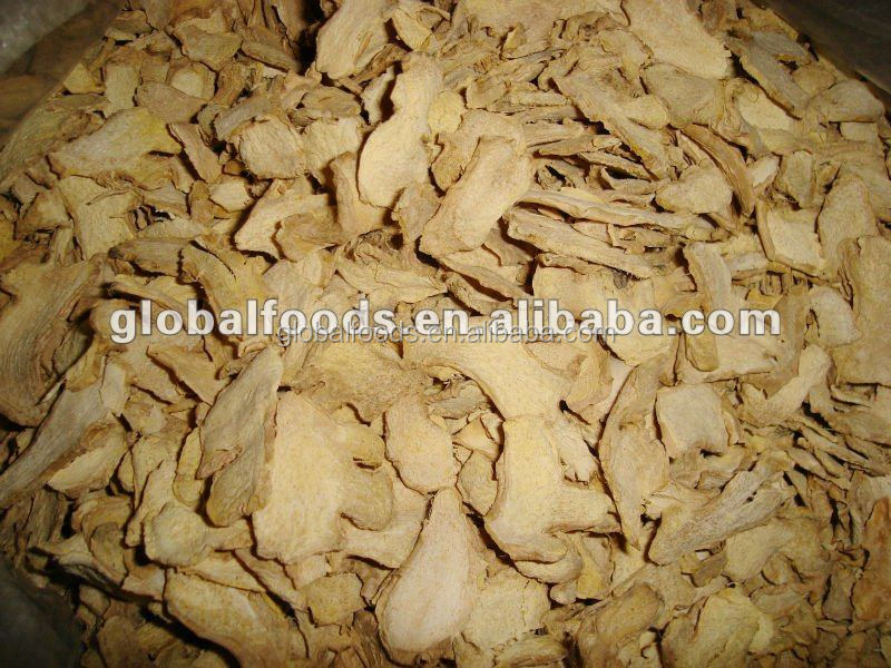 Dehydrated ginger flakes, dried vegetables, dried ginger slices