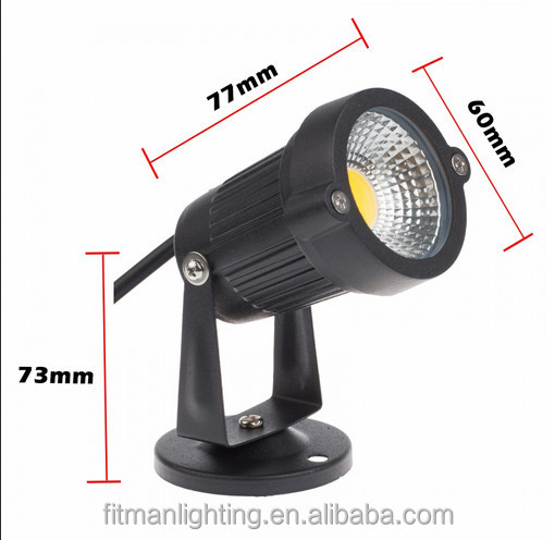 Outdoor dekorative 12 v 220 v 5 w cob led garten licht