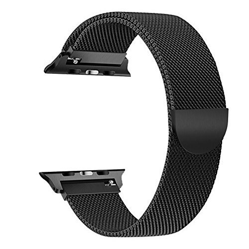 Magnetic buckle for Apple Watch Band 42mm 38mm 44mm 40mm, iWatch Bands Milanese Loop for Series 4 3 2 1