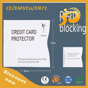 Aluminum foil RFID blocking sleeves/ Credit Card Secure Protection shield
