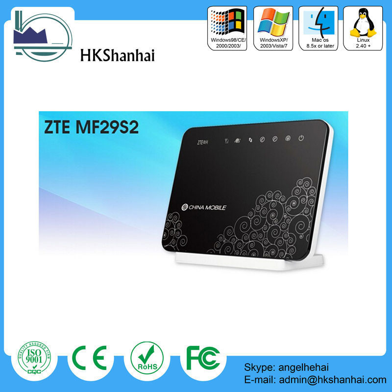 Hot sale fdd lte b1 b2 b3 b5 b7 b8 b20 tdd lte b40/ZTE MF29S2 4g wireless router