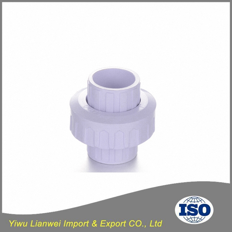 PVC plastic union for pipe fittings