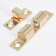 China hot sale brass safety door latch bolts,domestic toilet floor sliding golden cabinet closet home decoration solid door stop
