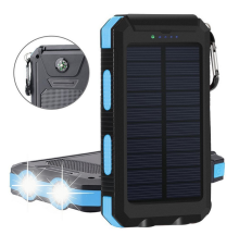 Dual USB Portable Tahan Air Solar Charger 5000 MAh 10000 MAh 20000 MAh Solar Power Bank