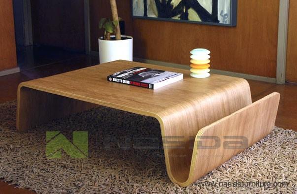 TL029 Offi Scando Coffee Table Eric Pfeiffer Panel Walnut Talbe In  Livingroom