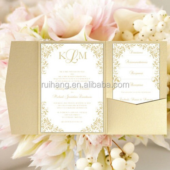 Luxury Gold Pocketfold Wedding