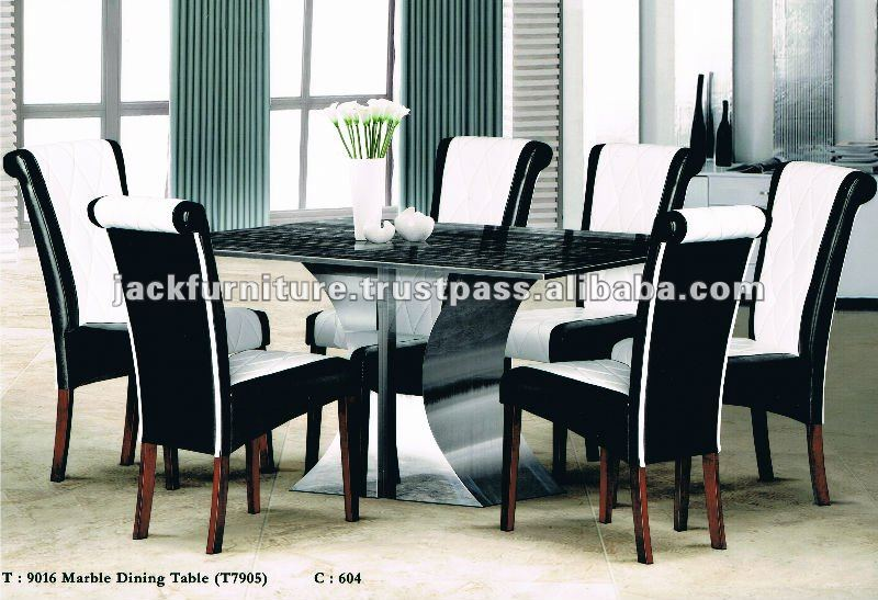 Marble Dining Table Sets Parson Chairs Luxury Room Top Product