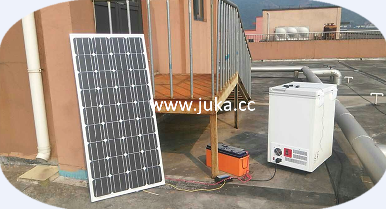 JUKA ice cream tricycle with solar powered dc12v/24v chest freezer