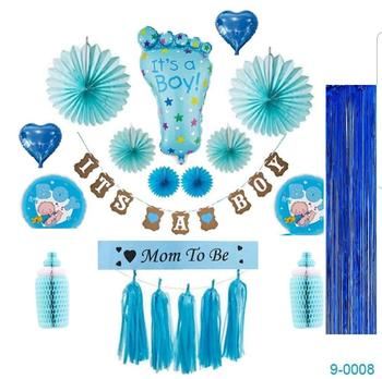 Baby Shower Decorations For A Boy Set Its A Boy Banner Foil Balloons
