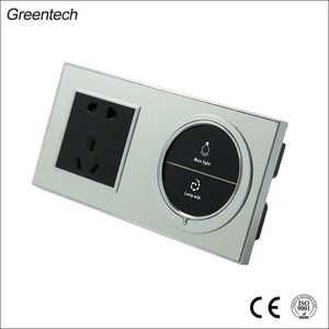 Good Quality European Wall Touch 220V and 12V Electrical Silver Switch