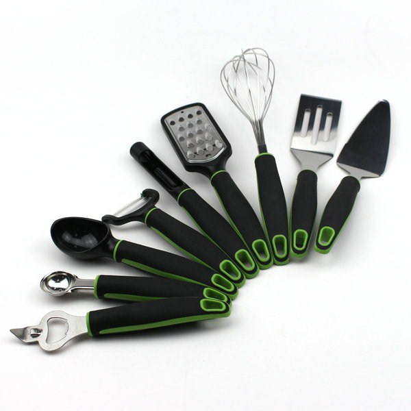 Stainless steel kitchen tools 9pcs small kitchen gadgets set with pp handle