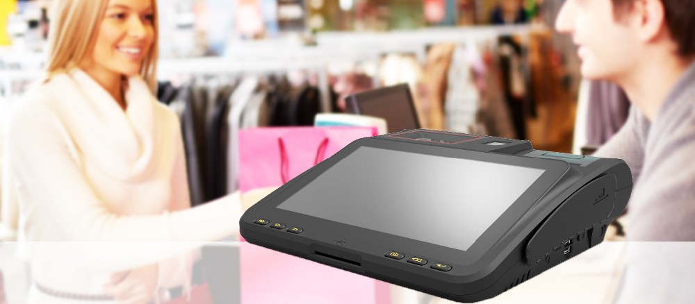 Factory Android Flat Pos Terminal with Rfid Reader and Bar