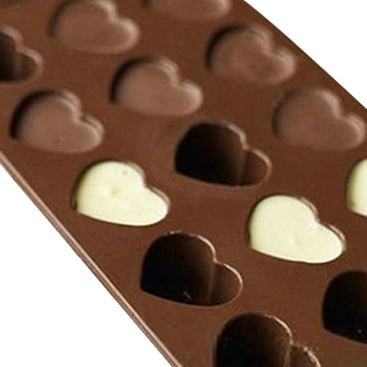 Heart shaped chocolate mold birthday party custom silicone chocolate mold