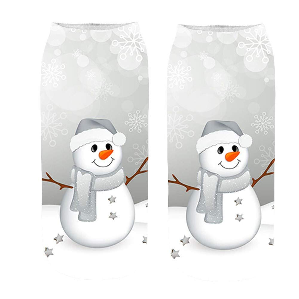 Happy Halloween Christmas - Franterd Unsex 3D Christmas Halloween Socks Casual Work Business Medium Sports Socks