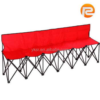 Outdoor Furniture Cheap Metal Folding Chair Long 6 Seats Sports Sitting  Benches