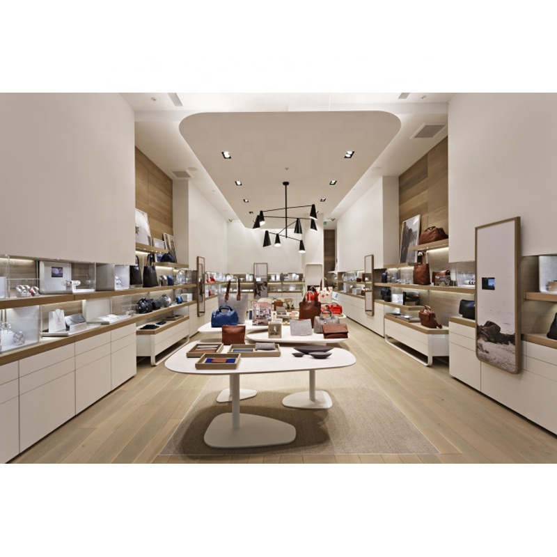 Exquisite Handbag Shop Interior Design, Retail Lady's Bag Exhibition Furniture