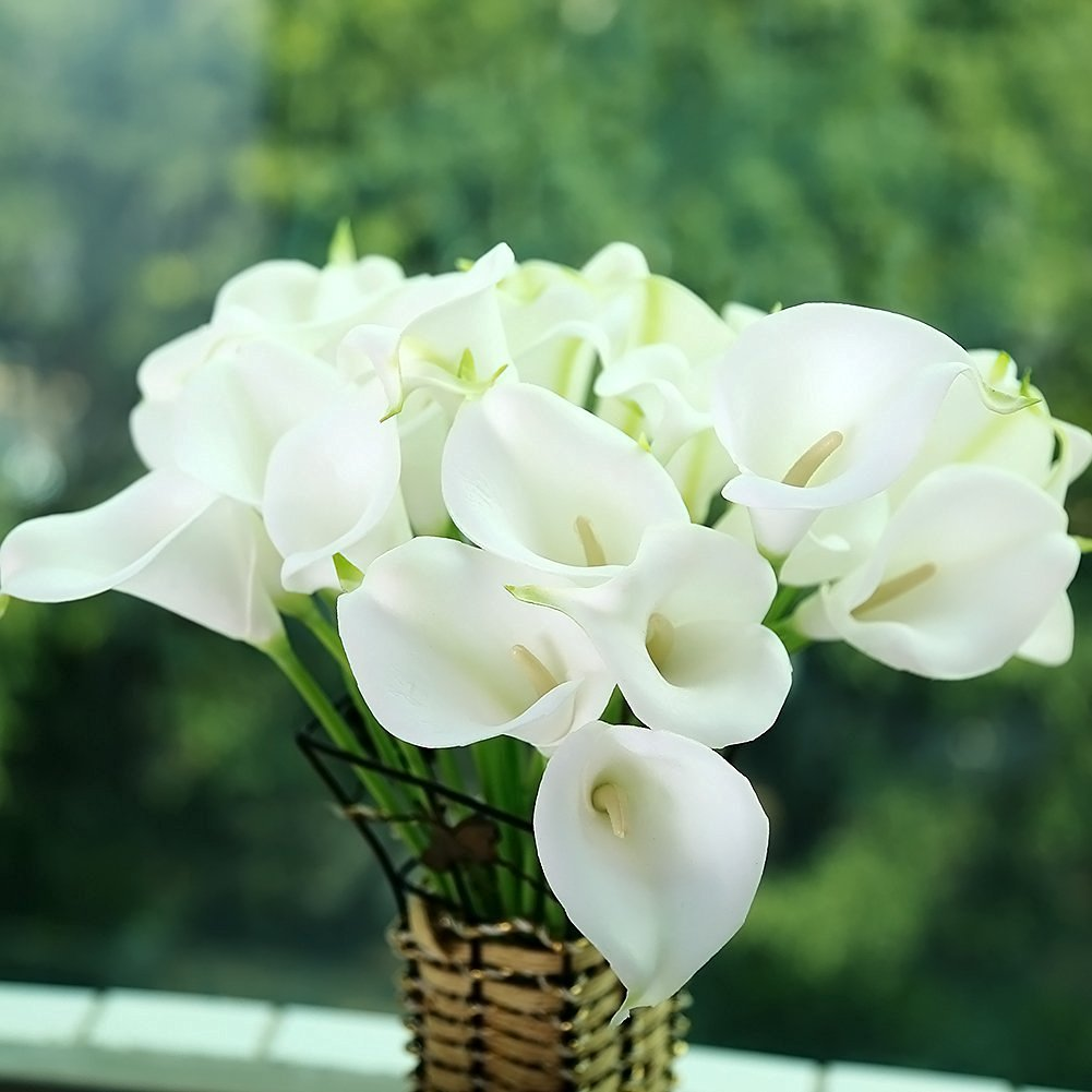 Cheap pu flowers of lily find pu flowers of lily deals on line at get quotations wedding home decoration mini size pu calla lily artificial flowers izmirmasajfo