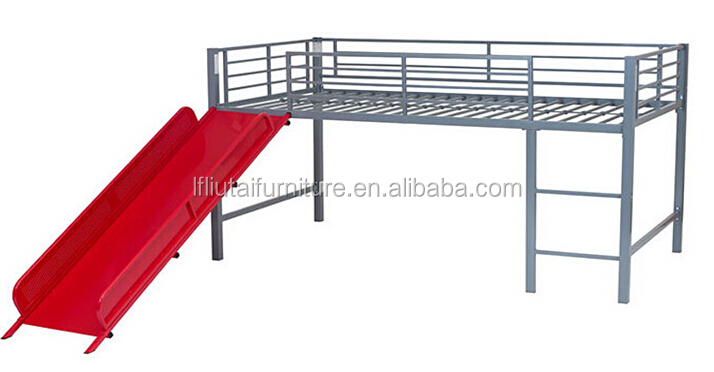 Metal Bunk Bed With Slide
