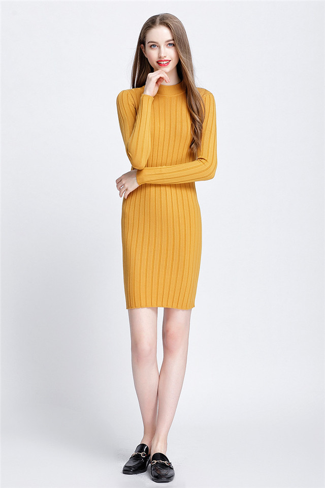 c030a2eb697 Detail Feedback Questions about GOPLUS New Ribbed Knit Sweater Dress ...