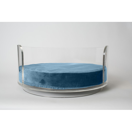 Luxury crystal clear Acrylic Pet Product Ped Bed Plexiglass Acrylic Dog Bed
