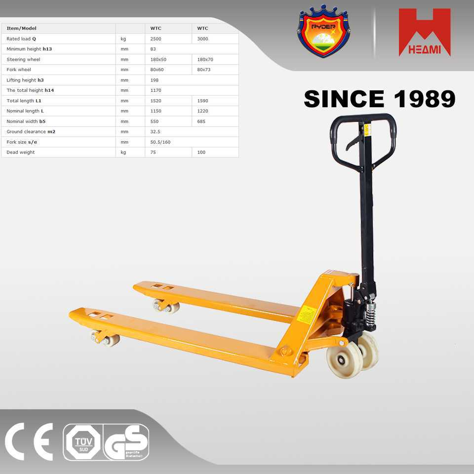 Pallet Truck Made in China 3.5ton 4wd telescopic handler