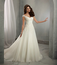 Hot Sale ! Free Shipping ! 2015 New Arrival A line Sweetheart Organza Women Vestidos White / Ivory Wedding Dresses OW 7800