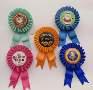 Hight Quality Award Ribbon Rosette with Hook for Events