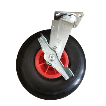 Factory Directly PU Rubber Solid Wheel Casters