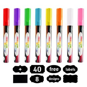 HOT SELLing Liquid Chalk Ink EBay markers,DIY art painting liquid chalk marker, easy dry washable glass marker pen