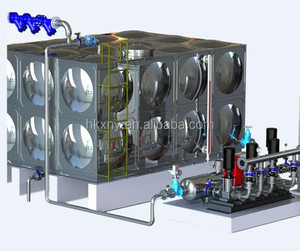 Factory Supply Booter Water Pumping Station Non Pressure Supply Water Equipment for Water Supply