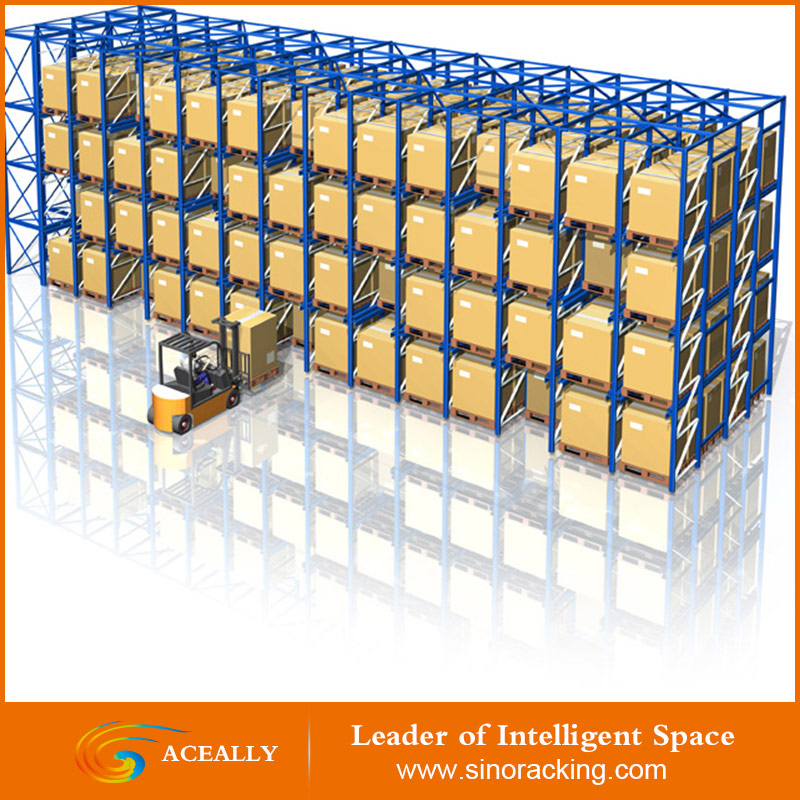 Aceally Heavy Duty Drive-In Pallet Rack Components Customizable warehouse shelving racks 2nd hand pallet racking