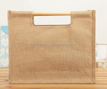Wholesale Promotion Hemp Gift Bag Jute Burlap Wine Gift Bags