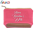 Calico zipper cosmetic canvas travel makeup bags for makeup artists