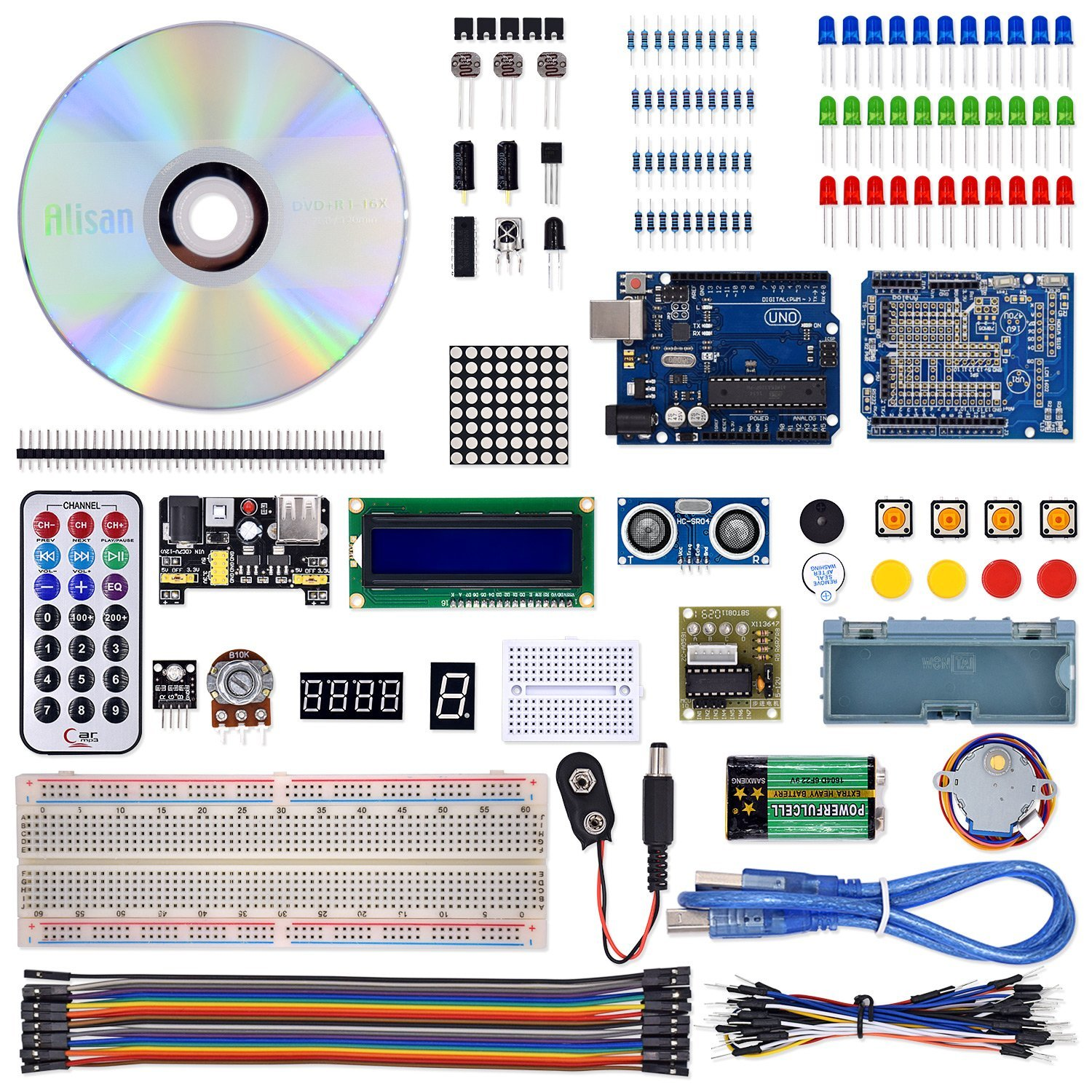 Cheap Project Breadboard Find Deals On Line At Details About 12 Pcs Kit Prototyping Pcb Printed Circuit Get Quotations Vkmaker T2 Complete Starter For Arduino Uno R3 Mega 2560 Robot Nano Kits