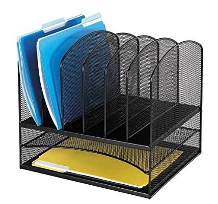 Wideny pulverbeschichtet 7 Halter Draht Metall Bürobedarf Desktop Organizer