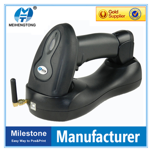 MHT-2018 New supermarket Wireless Barcode Scanner micro usb Wireless Laser Barcode Scanner with memory