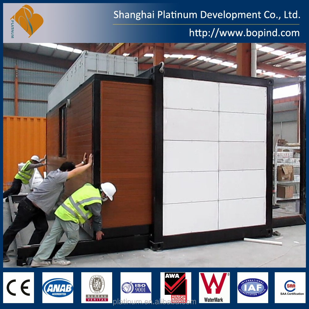Fully Assembly Prefabricated Steel Folding House, Modular Container House