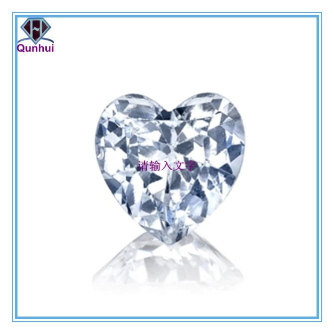 dazzling charm white heart shaped cubic zirconia