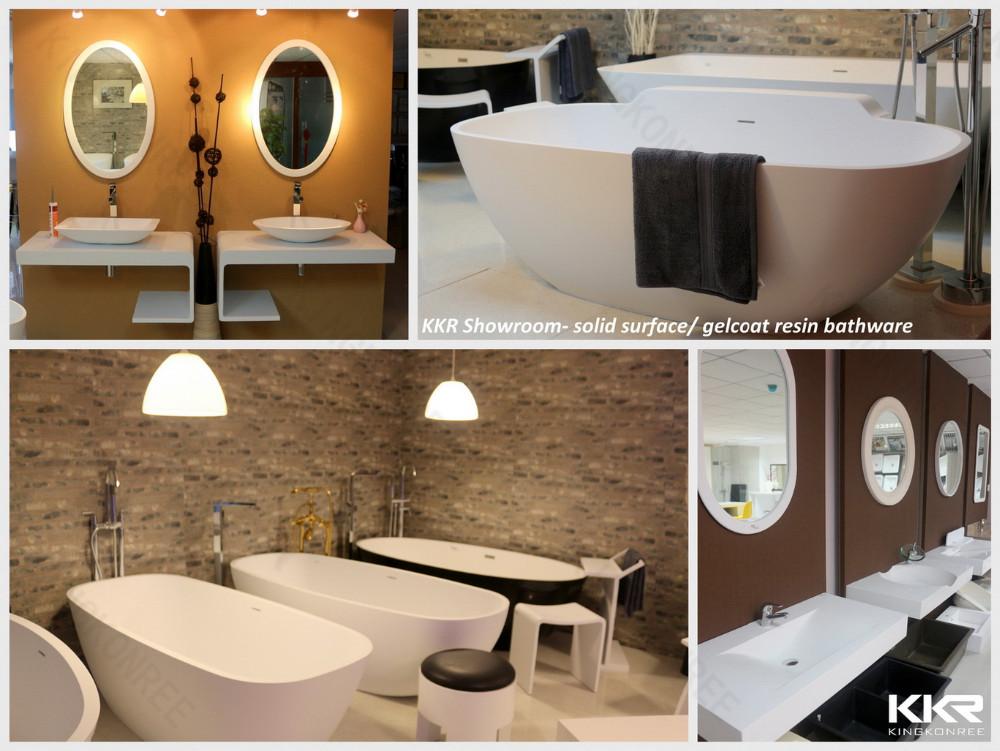 Espagnole lavabo, kingkonree surface solide lavabo-Lavabo de salle ...