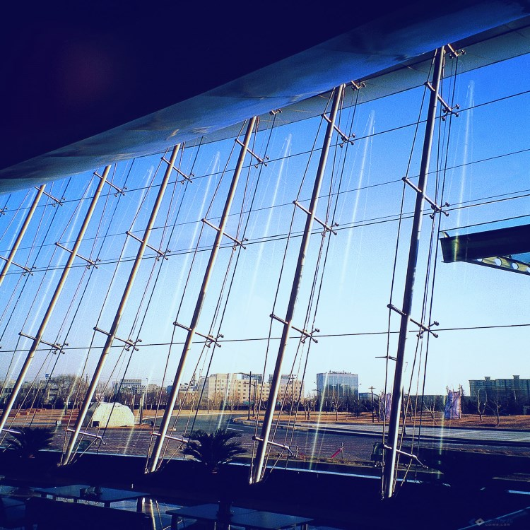 Prefabricated Glass Curtain Wall Construction Building