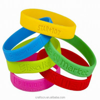 2016 most popular best selling custom silicone rubber wrist band