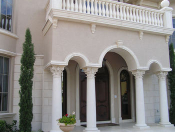 Front Entry Cast Stone Arch