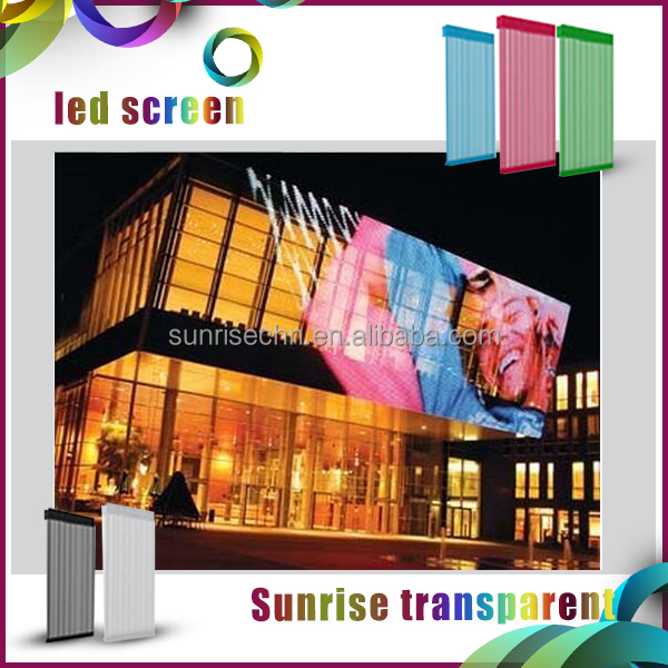Advertising curtain transparent mesh p31.25 video led display screen