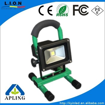 Outdoor 20w Rgb Portable Rechargeable Led Flood Light With Ir Remote Control Li Ion