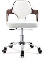 PU cover swivel office chair top rated white leather staff chair for sale