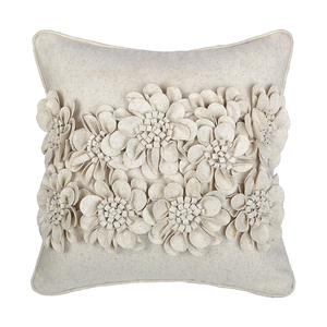 45*45cm beautiful 3d flower garden wholesale hand made outdoor cushions